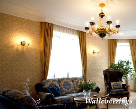 Wallcoverings - wallpaper, borders, swags, traditional, rustic, contemporary, Americana,